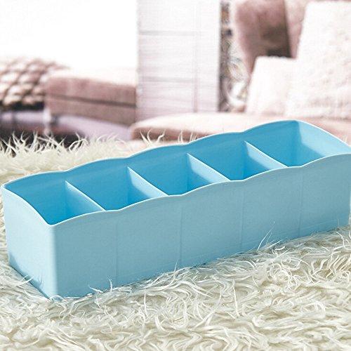 OSYARD Schublade Organizer Storage Box Aufbewahrungsbox für Unterwäsche,Schublade Organizer Kleiderschrankschubladen Divider für Socken,BHS und Krawatten,Schublade Cosmetic Divider,5 Zellen