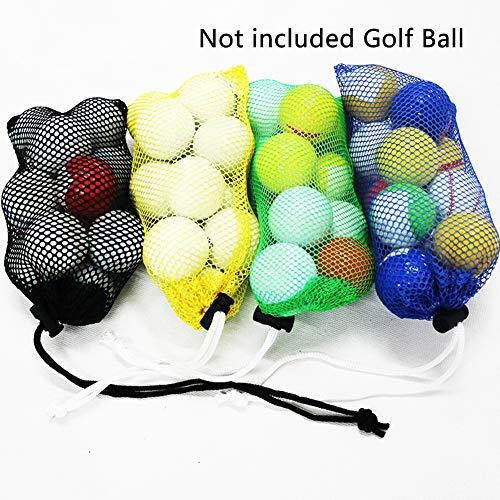 PENCIL2 Golfball-Tasche, Nylon-Netztasche mit Kordelzug, Verschluss für Golfball, Tischtennisbälle (zufällige Farbauswahl) -