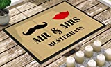 Individuell bedruckte Fußmatte - 'Mr. & Mrs.' in 3 Größen - V2, Größe der Fußmatte:50 x 70 cm