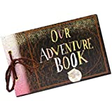 Sehaz Artworks Adventure Book Photo Album Scrapbook, DIY Handmade Album Scrapbook Movie Up Travel Scrapbook for Anniversary, Travelling, Baby Shower