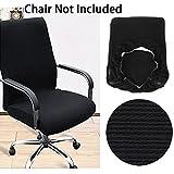 Btsky moderno stile Simplism elasticizzato rimovibile Resilient coperture della sedia girevole per ufficio sedia girevole sedia sedia da computer bracciolo sedia (no sedie), Black, large