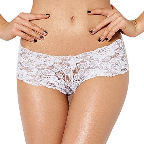 Dissa® 2er Pack G5059 Damen String Panties Hipster Weiß