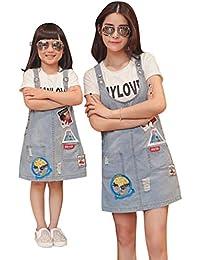 Familia Madre Y De La Hija De Ropa Sin Mangas Vaquero Cabestrillo Vestid Size 13
