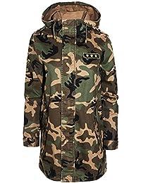 nuevas mujeres Camuflaje militar vendimia insignia chaqueta foso del invierno capa 36-44