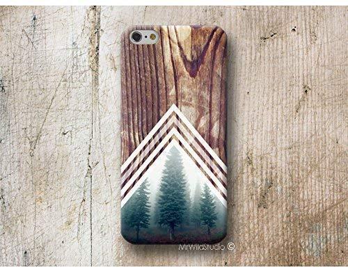 Wald Chevron Holz Print Hülle Handyhülle für iPhone X XR XS MAX 4 4s 5 5se se 5C 5S 6 6s 7 Plus iPhone 8 Plus iPod 5 6 (Phone Cases 5c)