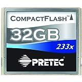 Pretec CF Card 233X 32GB 35MB/S Metal