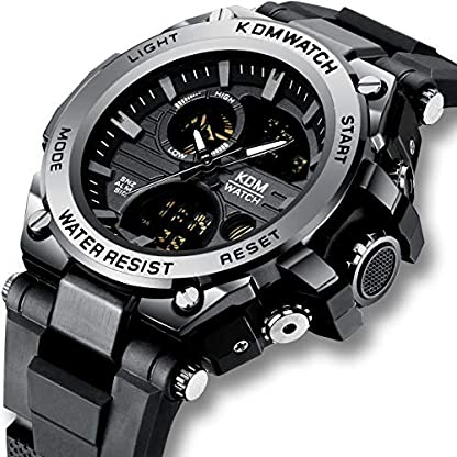 Herren-Uhren-Mnner-Digital-Analog-Sportuhren-Wasserdichte-LED-Militr-Groes-Digitaluhr-mit-Stoppuhr-Herren-Armee-Chronograph-Multifunktions-Armbanduhr-mit-Schwarzem-Gummi