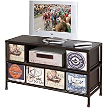 Links Industry A28 - Mobile Tv. Dim: 111x38x60 h cm. Col: Nero. Mat: Metallo.