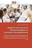 Telecharger Livres Rapport entre posture epistemologique et pratiques d enseignement (PDF,EPUB,MOBI) gratuits en Francaise