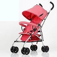 El cochecito de bebé, ultra-ligero puede sentarse se puede doblar los carritos de
