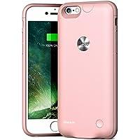 Cover Per iPhone 6 / 6s Con Batteria Integrata Wesoo Cover Con Batteria Ricaricabile da 2500mAh Ultra Sottile per iPhone 6 / 6s da 4.7 Pollici (Rosa Dorato)