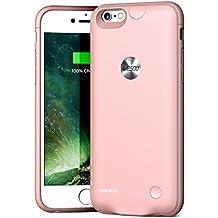 """Funda Carcasa Batería Recargable - Batería Cargador Externa Ultra Fina Wesoo 2500mAh para iPhone 6 / 6s 4,7"""" (Oro Rosa)"""