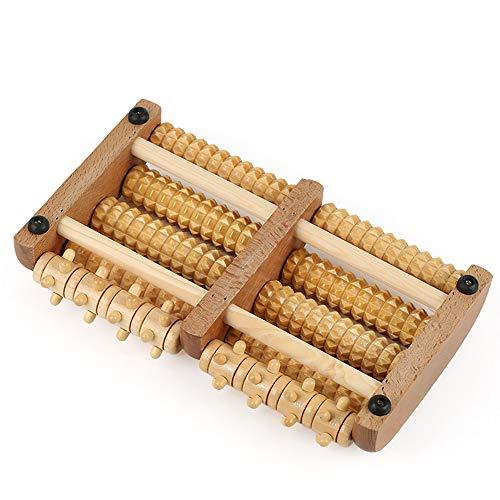 Akupunktur-maschine (DWhui Home Foot Massage Roller Wheel Type Solid Wood Foot Akupunktur Punkte Rubbed Holzfußmassage Maschine)