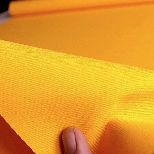 TOLKO Baumwollstoff Segeltuch mittelschwer - Polsterstoff/Möbelstoff als Meterware am Stück (Gelb) -