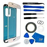 MMOBIEL Kit de remplacement vitre frontale pour Samsung Galaxy S4 i9500 i9505 (Blanc) écran tactile inclus: Kit d'outillage spécifique / Pincette / Ruban adhésif / Chiffon / fil / Manuel d'instructions