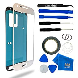 Mmobiel Front Glass For Samsung Galaxy S4 I9500 I9505 Series (White) Display Touchscreen Incl 12 Pcs Tool Kit Pre-cut Sticker Tweezers Adhesive Tape Wire Cleaning Cloth Manual