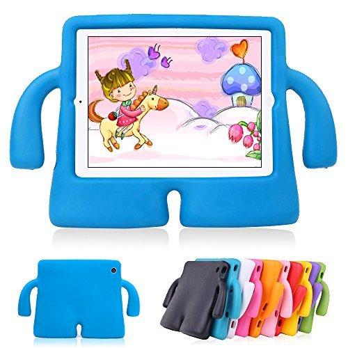 Lieoe, Carcasa para iPad Air 2,para niños, carcasa 3D, peso ligero, a prueba de golpes, Durable, de etilvinilacetato, espuma protectora, para iPad generación 5 y6de Apple azul azul
