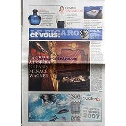 FIGARO ET VOUS (LE) [No 19697] du 29/11/2007 - LA GREVE DE L'OPERA DE PARIS MENACE WAGNER - LA MORT DE FRED CHICHIN LE GUITARISTE DES RITA MITSOUKO - LES PARFUMS ENVOUTANTS / DIOR - YVES SAINT LAURENT - COMME UN GARCON / MODE - MAISON / LA CHEMINEE