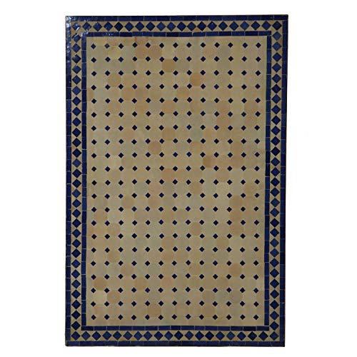 Mesa jardín mesa mosaico 120x80 cm rectangular azul