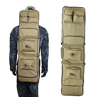 AVSUPPLY 121,9cm Tactical Wasserdicht Doppelte Gewehr Aufbewahrung Case Rucksack Military Double Gun Bag mit Gepolsterter Schultergurt und Beutel (Tan)