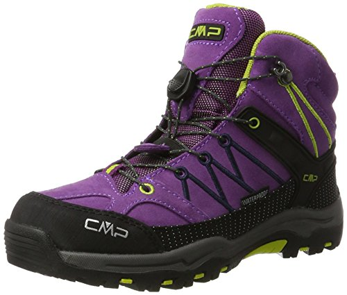CMP Rigel Mid Wp Unisex-Kinder Trekking-& Wanderschuhe, Violett (Purple-Lime Green), 36 EU