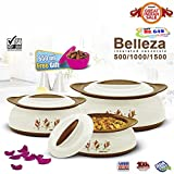 #6: BMS GoodDay Belleza Insulated Hot Pot Casserole Gift Set, 3 Pcs ,With FREE 650ML Bowl