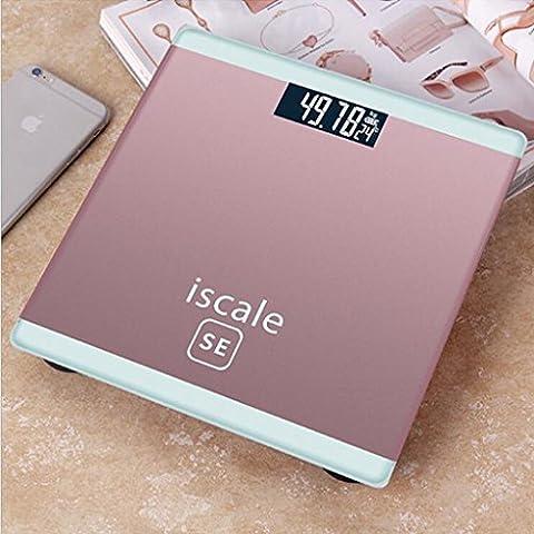 Jingzou Elektronische Waage, sagte der Körper der elektronischen Waagen, Haushalt Waage Präzision Temperaturanzeige25*25*2CM