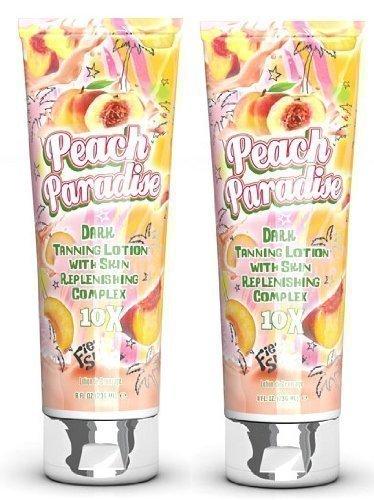 Crema lozione abbronzante lettino solare Fiesta Sun Peach Paradise 236ml x2