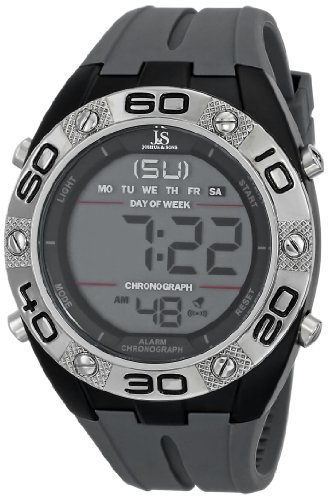 Joshua & Sons Men's JS66GY Gray Digital Watch