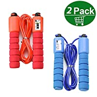 Jump Ropes,2pcs Skip Rope with Automatic Counting Function,Speed Skipping Rope for fitness Women,Men,Kids