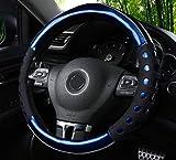 Istn Unisexs hochwertiger langlebiger Kunstleder Material und Rutschfestigkeit Universal Lenkradabdeckung Auto Auto Zubehör Dekor
