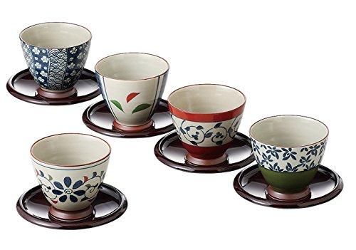 Saikai cerámica japonés taza de té y platillo Set 5patrones de Japón 13041