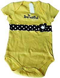 TOOGOO(R) New Fashion Baby Clothing Set Baby Girl Sets Romper+Tutu Skirt+Headband Newborn bebe Spring Summer Clothes-Yellow/Black,9M