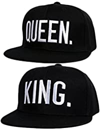 Gorras de Béisbol ajustable Sombreros para Parejas enamorados QUEEN And KING