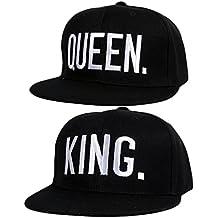 Gorras de Béisbol ajustable Sombreros para Parejas enamorados QUEEN And KING 9169a4b7548