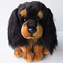 Cavalier King Charles Spaniel Dog (Black and Tan) Floppy Soft Cuddly Toy 12 Inch