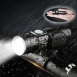 Luz de Bicicleta Delantera USB Recargable Impermeable con Zoom Beam Focusing, Yungo Mini Led Linterna Super Brillante con Batería de litio Incorporada para el Ciclismo de Montaña, Camping, Acampada