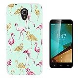 002655 - Collage Flamingo Pink & Gold Design Vodafone Smart