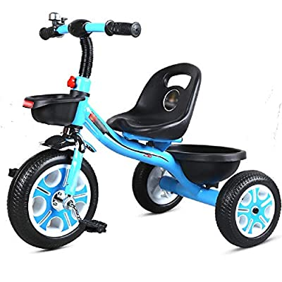 Jiamuxiangsi Children's Tricycle Balance Bicycle Baby Stroller Kids Bicycle Bicycle Baby Stroller Gift Toy Pink Bicycle Baby (Color : Blue)