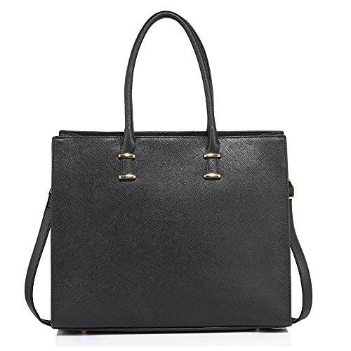 Trendstar Die Mode Der Frauen Taschenschulterbeutel Der Damen Große Designer Kunstleder Neue Handtasche (Schwarze Handtasche Neue Designer Inspiriert)