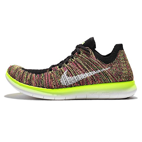 Nike Damen WMNS Free rn Flyknit oc Laufschuhe, Schwarz (Mehrfarbig/Multi-Color), 38 EU