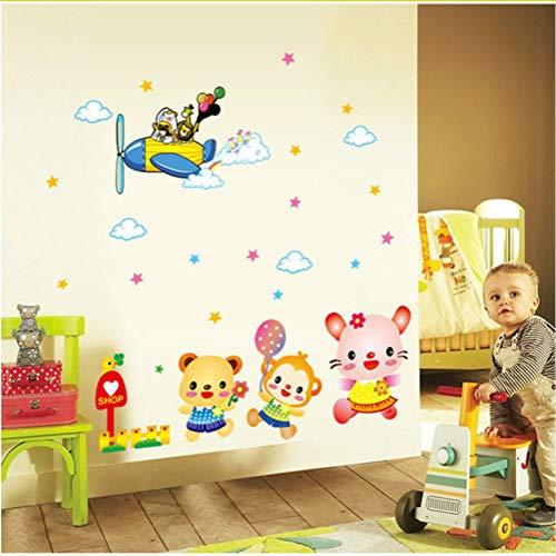 Zfkdsd Diy Wohnkultur Freude Cartoon Kinderzimmer Wandaufkleber Für Dekoration Pvc Baby Aufkleber Wand