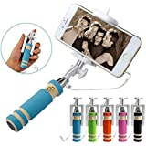 SEGGO Foldable Super Mini Wired Selfie Stick Handheld Extendable Compatible withVivo V5S / Vivo y66 / Vivo y53 / Vivo v7 plus / Vivo v7 / Vivo y55s / Vivo y69 / Vivo v5 plus / Vivo y66 / Vivo y21 / Vivo y53 / Vivo V3 / Vivo v5 / Vivo Y55L/ Vivo V1/ Vivoy21/ Vivo v3/ Vivo y31l/ Vivo V1 Max/ Vivo Y27L/Vivo Y15 and all other ViVO Mobiles (Assorted Color)