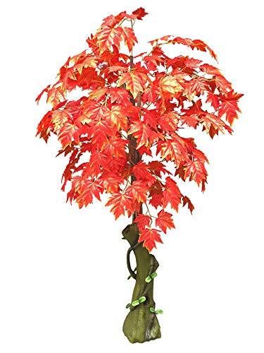 Decovego Ahorn Ahornbaum Kunstpflanze Kunstbaum Künstliche Pflanze Rote Blätter 180cm