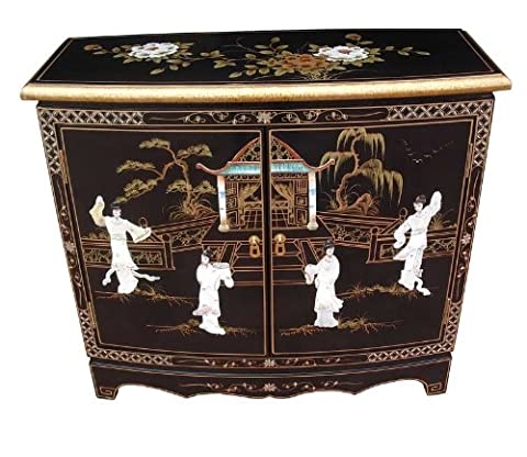 Oriental Chinese Furniture - Mother of Pearl 2 Door Cabinet