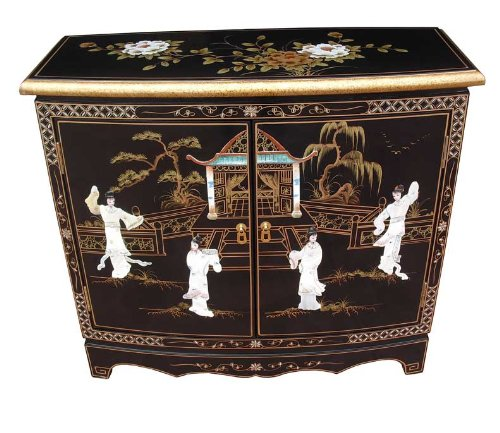 China Warehouse Direct Oriental Chinese Furniture - Mother of Pearl 2 Door Cabinet