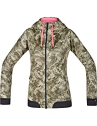 Gore Bike Wear Power Trail Print Windstopper Soft Shell - Chaqueta para mujer, color marrón