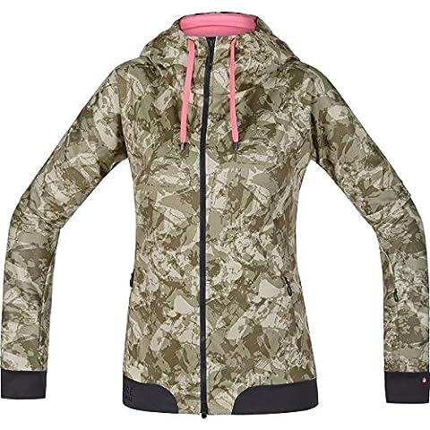 GORE BIKE WEAR Damen Warme Soft Shell Mountainbike-Kapuzenjacke, GORE WINDSTOPPER,