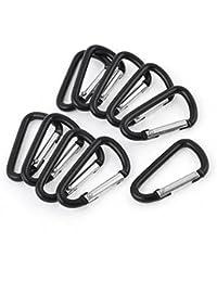Lot de 10 protections en alliage D'aluminium en forme de Clip porte-clés mousqueton
