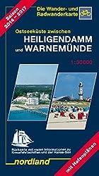 Ostseeküste zwischen Heiligendamm und Warnemünde: 1:30000, Wander- und Radwanderkarte. 2014-2017 (Deutsche Ostseeküste)